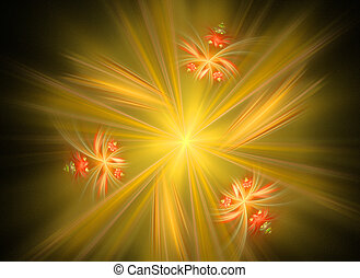 abstract flower fractal shape