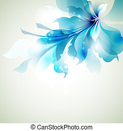 abstract flower - of Tender background with blue abstract...