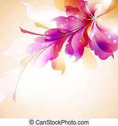 abstract flower  - Tender background with abstract flower