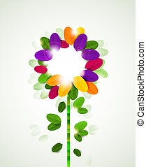 abstract flower - background with abstract flower formed by...