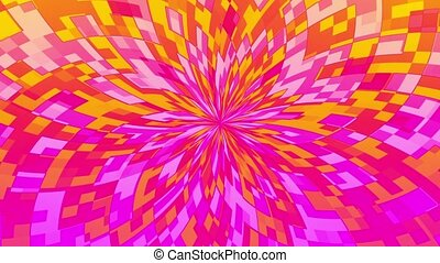 Abstract flower in pink and yellow