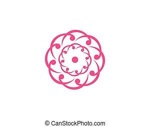 Abstract flower logo icon vector design