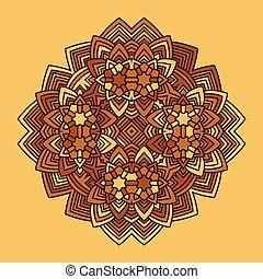 abstract flower mandala vector