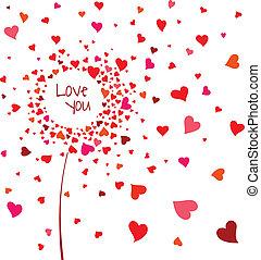 Abstract flower of hearts - Abstract flower of heart on...