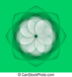 Abstract flower on green background