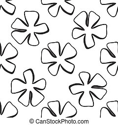 Abstract flower pattern. A seamless background.