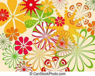 colorful abstract flower pattern