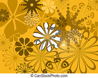 Abstract flower pattern - colorful abstract flower pattern
