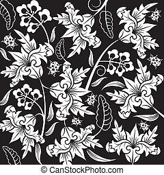 Abstract flower pattern with ladybug, element for design,...