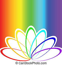 rainbow background - abstract flower petals in bright...