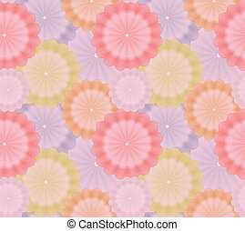 Abstract flower seamless background. Vector