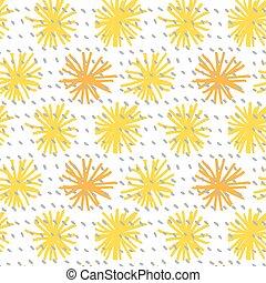 abstract flower seamless pattern vector illustration