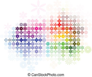 Abstract Flower Spectrum Background - Digital flower...