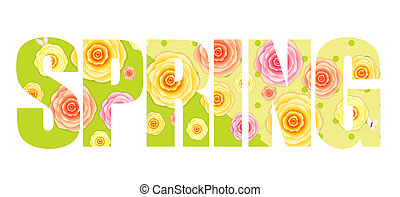 Abstract Flower Spring Background  Illustration