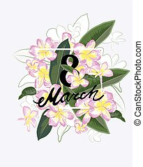 Abstract flower spring illustration