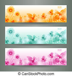Abstract Flower Vector Background /