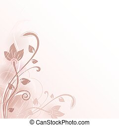 Abstract flower vector background with copy space.