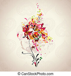 abstract flower - background with abstract flower in the...