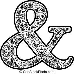 abstract flowers ampersand sy...