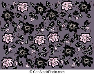 Abstract flowers background