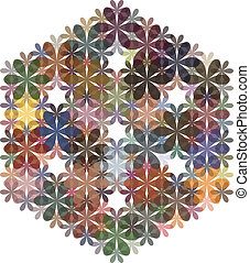 Abstract flowers background for design. Vector