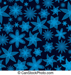 abstract flowers blue seamless pattern eps10