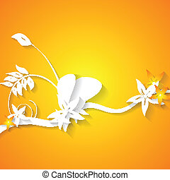 Abstract flowers bright background
