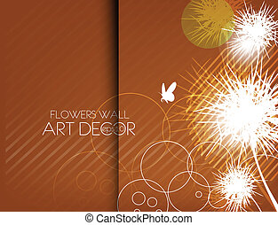 abstract flowers card design