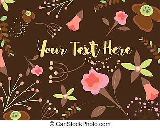 Abstract Flowers Elements Backdrop