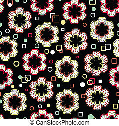 Abstract Flowers Endless Seamless P