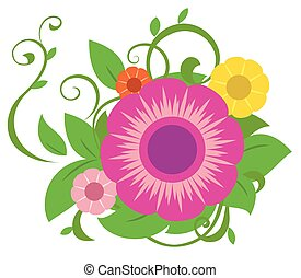 Abstract flowers illustration 3