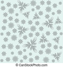 abstract flowers on a light background vector illustration for your design