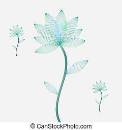 Abstract flowers on white background