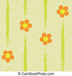 abstract flowers seamless background pattern