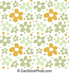 Abstract Flowers Seamless Pattern Texture