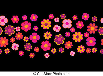 Abstract Flowers Seamless Vector Background