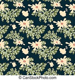 abstract flowers seamless vector pattern for your design