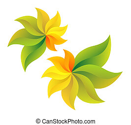 Abstract flowers - Symbolizes end of summer and beginning of...