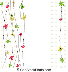 Abstract flowers. Vector