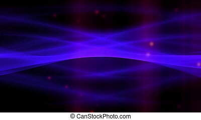Abstract Flowing loop bright blue
