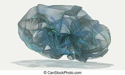 Abstract flowing object in blue color