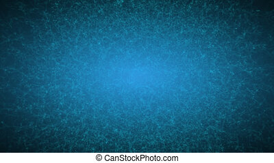 Abstract Flowing Particles On Cyan Background