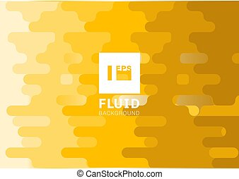 Abstract fluid yellow rounded lines background halftone...