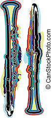 abstract Flute illustration