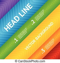 Abstract flyer text box with rainbow background