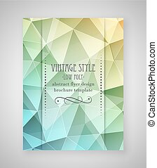 Abstract flyer triangular design