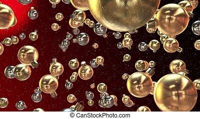 Abstract flying Christmas decoratio