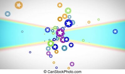 Abstract flying colorful circles