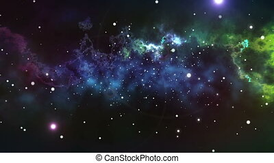 Infinite space background with nebula and stars