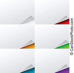 Abstract Folded Page Background Set